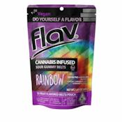 FLAV: SOUR RAINBOW BELTS 100MG