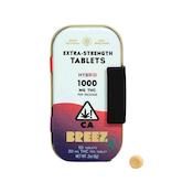 BREEZ: EXTRA-STRENGTH TABLET TINS (HYBRID, 1000 MG THC)
