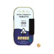 BREEZ: EXTRA-STRENGTH TABLET TINS (INDICA, 1000 MG THC)